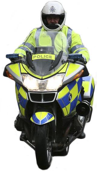 Cop motorbike